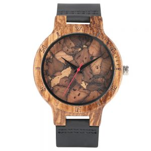montre en bois the wood empire marbre